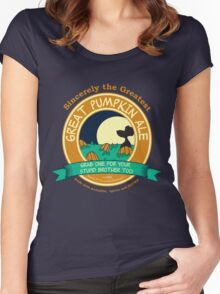 It's the Great Pumpkin Ale Charlie Brown Women's Fitted Scoop T-Shirt