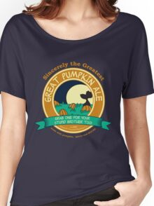 It's the Great Pumpkin Ale Charlie Brown Women's Relaxed Fit T-Shirt