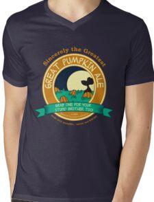It's the Great Pumpkin Ale Charlie Brown Mens V-Neck T-Shirt
