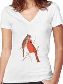 Vintage Cardinals Women's Fitted V-Neck T-Shirt