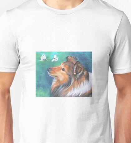 Shetland Sheepdog Fine Art Painting Unisex T-Shirt