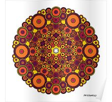 Mandala 37 Coloured v1.0 Prints, Cards & Posters Poster