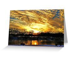 A Winter Portrait Along The Arkansas River Greeting Card