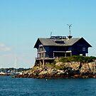 Amazing House on a Rock Island in Narragansett Bay, Newport RI by Jane Neill-Hancock