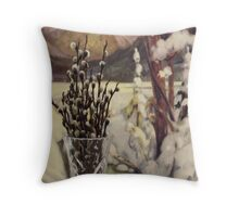 Pussy Willows - Springs Promise  Throw Pillow