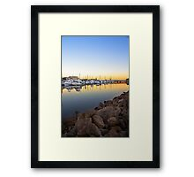 Smooth Start to the Day Framed Print