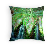 Aquarium Of The Americas Waterfall Throw Pillow