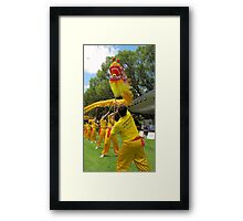 gold dragon Framed Print