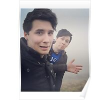 Dan and Phil on a walk Poster