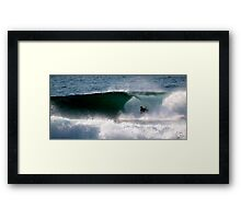 Body Boarder gets slotted, LA Sydney's NTH BEACHES Framed Print