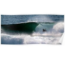 Body Boarder gets slotted, LA Sydney's NTH BEACHES Poster