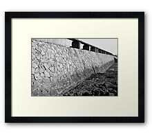 The wall... Framed Print