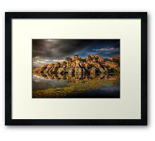 Clifflection Framed Print