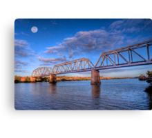 Moon River - Railway Bridge at Murray Bridge, South Australia Canvas Print