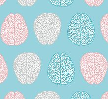 Brainy Pastel Pattern by XOOXOO