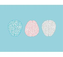 Brainy Pastel Pattern (Awesome Pastel Brains) Photographic Print