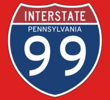 Interstate Sign 99 Pennsylvania, USA Kids Tee