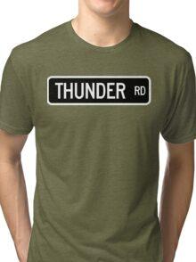 Thunder Road street sign  Tri-blend T-Shirt
