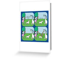 How's The Weather Up There? (Horned Warrior Friends) Greeting Card