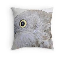 Keen-eyed Raptor. Throw Pillow