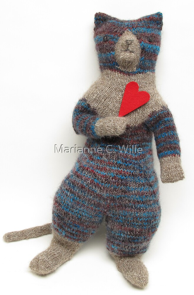 Miss Blue Kitty by Marianne C. Wille