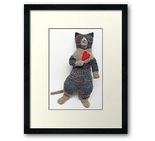 Miss Blue Kitty Framed Print