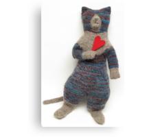 Miss Blue Kitty Canvas Print
