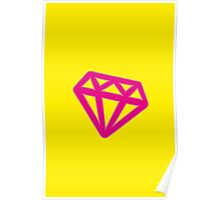 Pink Kitsch Diamond Poster