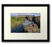 Iceland - Thingvellir stream Framed Print