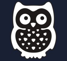 Black & White Owl Kids Clothes