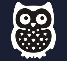 Black & White Owl One Piece - Short Sleeve