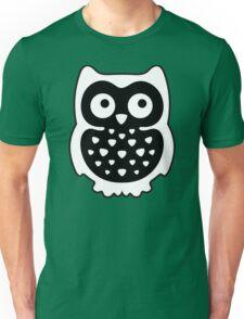 Black & White Owl Unisex T-Shirt