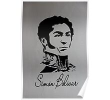 Mural to Simon Bolivar in Giron Poster
