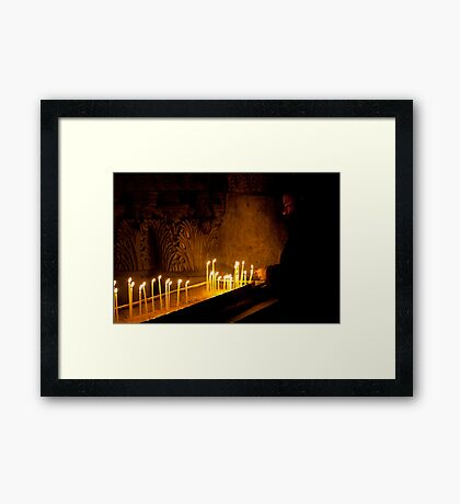 Priest at the Church of the Holy Sepulchre, Jerusalem Framed Print