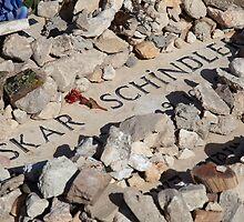 Oskar Schindler's grave, Jerusalem by Tony Roddam