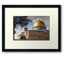 Picnic at the Dome of the Rock Framed Print