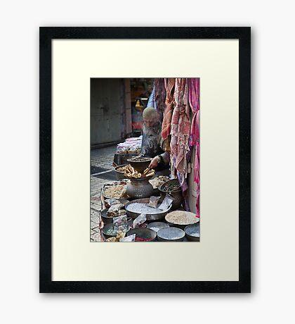 Spices and minerals, Jerusalem Framed Print