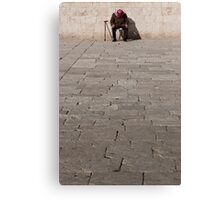 Taking a nap at the Dome of the Rock Canvas Print