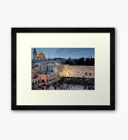 Sabbath at the Wailing Wall, Jerusalem Framed Print