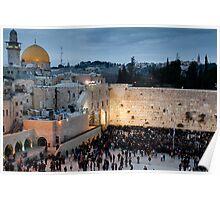 Sabbath at the Wailing Wall, Jerusalem Poster