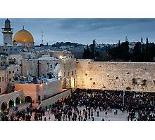 Sabbath at the Wailing Wall, Jerusalem Photographic Print