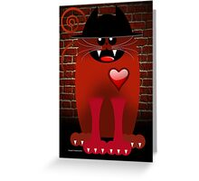 BIG RED Greeting Card