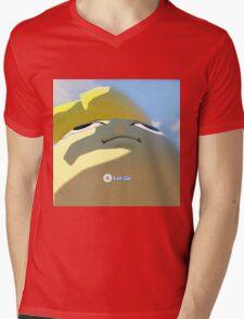 Press A to let go Mens V-Neck T-Shirt