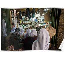 Shopping in the Old City, Jerusalem Poster