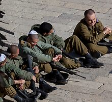 Israeli soldiers by Tony Roddam