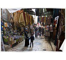 Street scene, Old City Jerusalem Poster