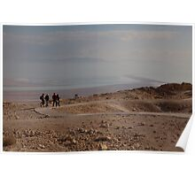 The Dead Sea from Masada fortress Poster