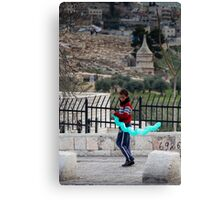 Boy with balloon, Jerusalem Canvas Print