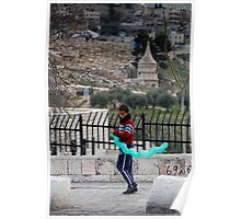 Boy with balloon, Jerusalem Poster