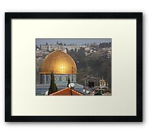Three Jews viewing the Dome of the Rock Framed Print